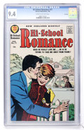 Silver Age (1956-1969):Romance, Hi-School Romance #71 File Copy (Harvey, 1958) CGC NM 9.4 Cream tooff-white pages....