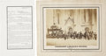 """Miscellaneous:Ephemera, [Lincoln Funeral: Philadelphia] Sepia Albumen Photograph From anEngraving with Printed Caption """"PRESIDENT LINCOLN'S HEARSE. /...(Total: 2 Items)"""