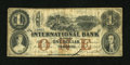 Canadian Currency: , Toronto, CW- International Bank $1 Sep. 15, 1858 380-10-10-08. ...