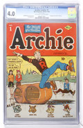 Golden Age (1938-1955):Humor, Archie Comics #1 (MLJ, 1942) CGC VG 4.0 Off-white to white pages....