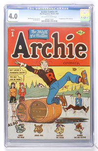 Archie Comics #1 (MLJ, 1942) CGC VG 4.0 Off-white to white pages