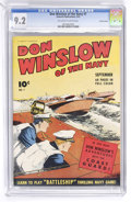 Golden Age (1938-1955):War, Don Winslow of the Navy #7 Crowley Copy pedigree (Fawcett, 1943)CGC NM- 9.2 Off-white to white pages....