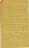 Autographs:Statesmen, [Edwin Stanton] Contemporary Copies of Sec. of War Stanton's Dispatches Reporting President Lincoln's Decline and Death, wri...