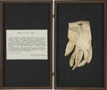 Political:Presidential Relics, A Glove Worn by Abraham Lincoln. White kid glove used by the president at a White House reception, subsequently presented by...