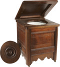 Political:Presidential Relics, [Mary Todd Lincoln] Mary Todd Lincoln's Black Walnut Commode. The former First Lady is said to have acquired this essential ... (Total: 2 Items)