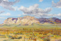 Fine Art - Painting, American:Contemporary   (1950 to present)  , JAY HALL CONNAWAY (American, 1893-1970). Arizona Desert,1965. Oil on board. 20 x 30 inches (50.8 x 76.2 cm). Signed low...