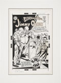 Original Comic Art:Covers, Curt Swan and Neal Adams Superman's Pal Jimmy Olsen #117 Cover Original Art (DC, 1969)....