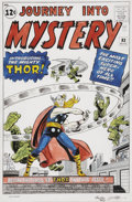 Original Comic Art:Covers, Dick Ayers and Stan Goldberg Journey Into Mystery #83 FirstThor Cover Re-Creation Original Art (undated)....