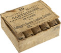 "Military & Patriotic:Civil War, Full Box: ""10 Poultney's Metallic Cartridges Patented December 15th 1863 12 caps for Gallager's Breech loading carbine 50/100 ..."