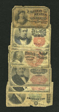 Fractional Currency:Fifth Issue, Fr. 10c Fourth Issue Good. Fr. 1265 10c Fifth Issue Good. Fr. 126610c Fifth Issue Good. Fr. 15c Fourth Issue Good. Fr. 1309 2...(Total: 7 notes)
