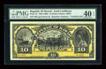 Large Size:Demand Notes, $10 Republic of Hawaii Gold Certificate 1895 (1899) Pick 7b PMGExtremely Fine 40 EPQ....