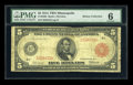 Fr. 840b $5 1914 Red Seal Federal Reserve Note PMG Good 6