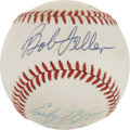 Autographs:Baseballs, Hall of Fame Pitchers Multi-Signed Baseball. ...