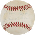 Autographs:Baseballs, Warren Spahn and Johnny Sain Dual-Signed Baseball....
