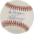 Autographs:Baseballs, Ken Griffey Jr. and Ken Griffey Sr. Dual-Signed Baseball. ...