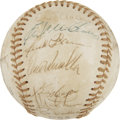 Autographs:Baseballs, 1974 Atlanta Braves Team Signed Baseball....