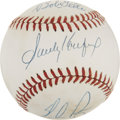 Autographs:Baseballs, Feller, Ryan and Koufax Multi-Signed Baseball....