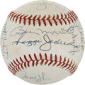 Autographs:Baseballs, 1976-81 New York Yankees Greats Multi-Signed Baseball....