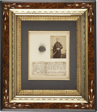 Bullet that Grazed the Head of Brigadier General Isaac J. Wistar. A mushroomed Confederate minié ball is preserve...