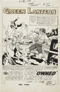 Original Comic Art:Splash Pages, Gil Kane and Sid Greene Green Lantern #37 Splash Page 1Original Art (DC, 1965).... (Total: 2 Items)