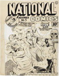 Original Comic Art:Covers, Lou Fine National Comics #5 Uncle Sam Cover Original Art(Quality, 1940)....