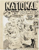 Lou Fine National Comics #5 Uncle Sam Cover Original Art (Quality, 1940)