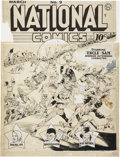 Original Comic Art:Covers, Lou Fine National Comics #9 Uncle Sam Cover Original Art(Quality, 1941)....