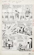 Original Comic Art:Panel Pages, Jack Kirby and Paul Reinman X-Men #1 Magneto page 14Original Art (Marvel, 1963)....