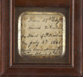 "Military & Patriotic:Civil War, Civil War Hardtack Sent Home From the Front, approximately 3"" square, inscribed ""From 39th Regt / Mass Volunteers / In Fro..."