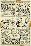 Original Comic Art:Panel Pages, Jack Kirby and Mike Royer The Sandman #1 page 12 OriginalArt (DC, 1974)....