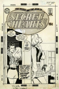 Original Comic Art:Covers, Ric Estrada and Dick Giordano (attributed) Secret Hearts#144 Cover Original Art (DC, 1970)....