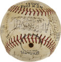 Autographs:Baseballs, 1942 New York Yankees Team Signed Baseball....