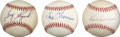 Autographs:Baseballs, Vintage Greats Single Signed Baseballs Lot of 3. ...