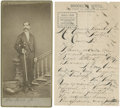 """Autographs:Celebrities, [Ford's Theatre] William Withers, Jr. Autograph Letter Signed on""""Brooklyn Hotel"""" letterhead, two pages, 5"""" x 8"""", [San Franc...(Total: 2 Items)"""