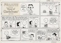 Charles Schulz Peanuts Sunday Comic Strip Original Art, dated 9-29-68 (United Feature Syndicate, 1968)