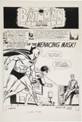 "Original Comic Art:Splash Pages, Carmine Infantino and Joe Giella Detective Comics #327 First""New Look"" Batman Splash Page 1 Original Art (DC, 196..."