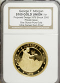 Patterns, Private Issue $100 Gold Union Proposed Design Ultra Cameo Gem Proof NGC....