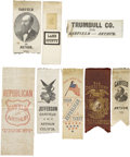 Political:Ribbons & Badges, James A. Garfield: A Fine Collection of Eight Campaign Ribbons. Includes several unusual varieties. All in very good to exce... (Total: 8 Items)
