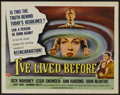 "Movie Posters:Fantasy, I've Lived Before (Universal International, 1956). Half Sheet (22"" X 28"") Style B. Fantasy...."