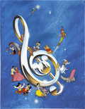 Original Comic Art:Covers, The New Illustrated Disney Songbook Cover Original Art(Disney/Harry N. Abrams, 1986)....