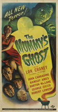 "Movie Posters:Horror, The Mummy's Ghost (Universal, 1944). Three Sheet (41"" X 81"")...."