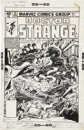 Original Comic Art:Covers, Gene Colan and Bob Wiacek Doctor Strange #35 Cover OriginalArt (Marvel, 1979)....