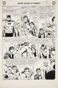 Original Comic Art:Panel Pages, Mike Sekowsky and Bernard Sachs Justice League of America #4page 6 Original Art (DC, 1961)....