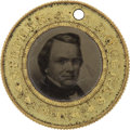 Political:Ferrotypes / Photo Badges (pre-1896), Douglas & Johnson 1860-Dated Ferrotype....