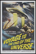 "Movie Posters:Science Fiction, Voyage to the End of the Universe (American International, 1964).One Sheet (27"" X 41""). Science Fiction...."