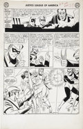 Original Comic Art:Panel Pages, Mike Sekowsky and Bernard Sachs Justice League of America #4page 25 Original Art (DC, 1961)....