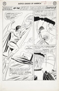 Original Comic Art:Panel Pages, Mike Sekowsky and Bernard Sachs Justice League of America #4page 21 Original Art (DC, 1961)....