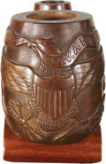 Military & Patriotic:Civil War, One of the Most Magnificent Carved Civil War Pipes We've Ever Seen....