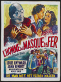 "Movie Posters:Adventure, The Man in the Iron Mask (United Artists, R-1940s). Belgian (14"" X19""). Adventure...."