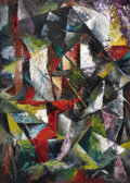 Fine Art - Painting, American:Contemporary   (1950 to present)  , FRANK RYAN (American, 1920-1993). Untitled, Abstract. Oil on canvas. 25 x 18 inches (63.5 x 45.7 cm). Signed lower right...